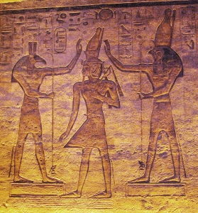 Seth and Horus adoring Ramesses
