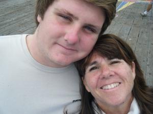 Sam and his mom, Judy.