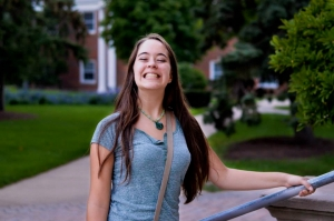 My daughter, all grins in her new college life.